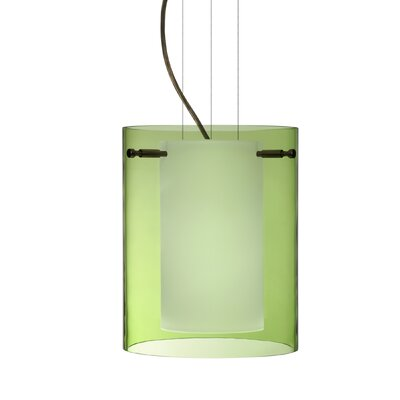 Pahu 1-Light Mini Pendant Finish: Brushed Bronze, Shade Color: Olive, Size: 9.88 H x 7.88 W x 7.88 D