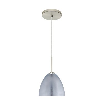Sasha II 1-Light Mini Pendant Finish: Satin Nickel, Glass Shade: Silver Foil, Bulb Type: Incandescent
