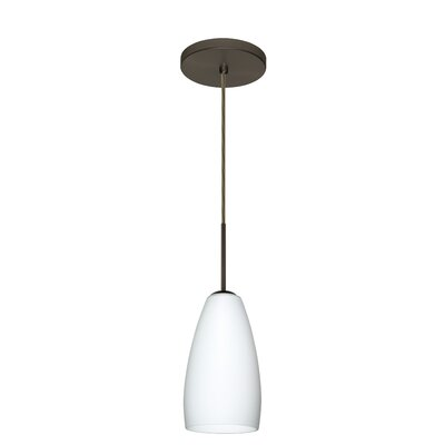 Chrissy 1-Light Mini Pendant Finish: Bronze, Glass Shade: Opal Matte, Bulb Type: Xenon or Incandescent