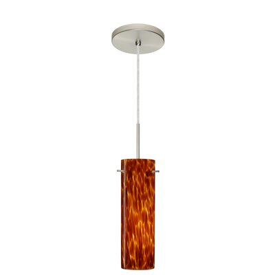 Copa 1-Light Mini Pendant Finish: Satin Nickel, Glass Shade: Amber Cloud, Bulb Type: Incandescent or Xenon