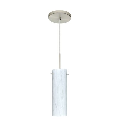 Copa 1-Light Mini Pendant Finish: Satin Nickel, Glass Shade: Carrera, Bulb Type: Incandescent or Xenon