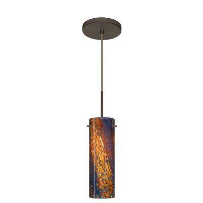 Copa 1-Light Mini Pendant Finish: Bronze, Glass Shade: Ceylon, Bulb Type: LED