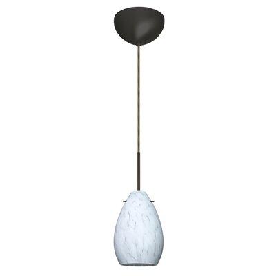 Pera 1 Light Mini Pendant Bulb Type: Halogen, Finish: Bronze, Glass Shade: Carrera