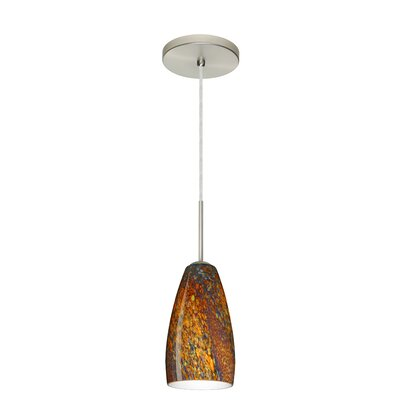 Chrissy 1-Light Pendant Finish: Satin Nickel, Glass Shade: Ceylon, Bulb Type: Incandescent or Xenon