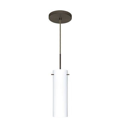 Copa 1-Light Mini Pendant Finish: Bronze, Glass Shade: Opal Matte, Bulb Type: LED