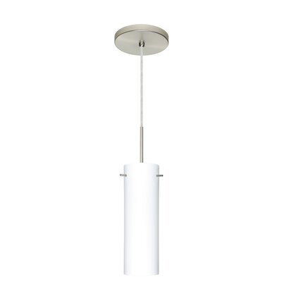 Copa 1-Light Mini Pendant Finish: Satin Nickel, Glass Shade: Opal Matte, Bulb Type: Incandescent or Xenon
