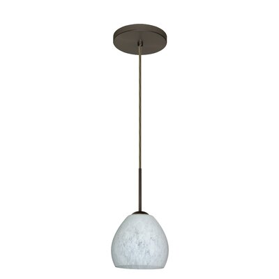 Bolla 1-Light Mini Pendant Finish: Bronze, Glass Shade: Carrera, Bulb Type: LED