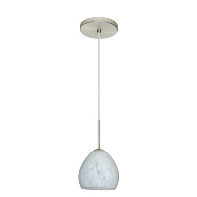 Bolla 1-Light Mini Pendant Finish: Satin Nickel, Glass Shade: Carrera, Bulb Type: LED