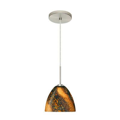 Sasha II 1-Light Mini Pendant Finish: Satin Nickel, Glass Shade: Ceylon, Bulb Type: LED