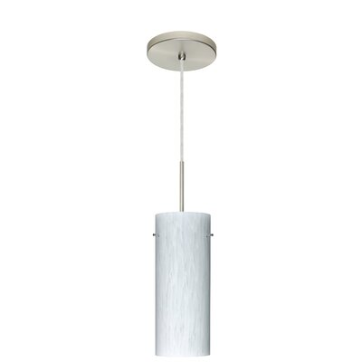 Stilo 1-Light Mini Pendant Finish: Satin Nickel, Glass Shade: Carrera, Bulb Type: LED
