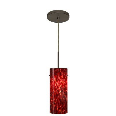 Stilo 1-Light Mini Pendant Finish: Bronze, Glass Shade: Garnet, Bulb Type: Incandescent