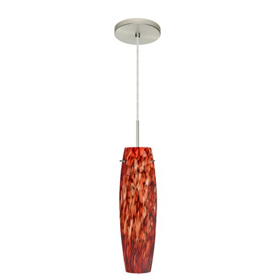 Tutu 1-Light Mini Pendant Finish: Satin Nickel, Glass Shade: Garnet, Bulb Type: Xenon or Incandescent