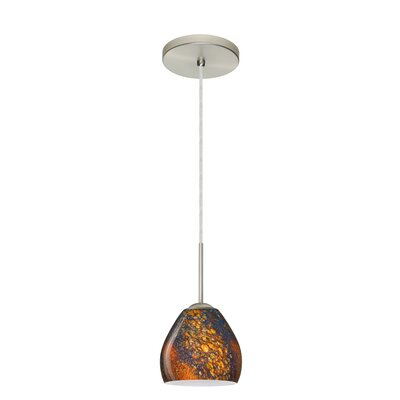 Bolla 1-Light Mini Pendant Finish: Satin Nickel, Glass Shade: Ceylon, Bulb Type: LED