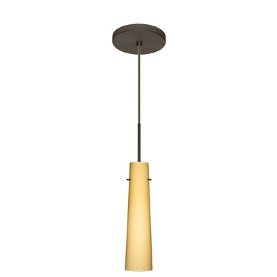 Camino 1-Light Mini Pendant Finish: Bronze, Glass Shade: Vanilla Matte, Bulb Type: Xenon or Incandescent