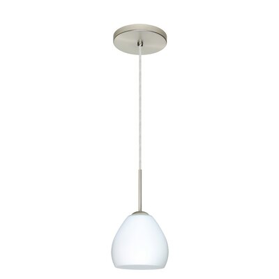 Bolla 1-Light Mini Pendant Finish: Satin Nickel, Glass Shade: Opal Matte, Bulb Type: LED