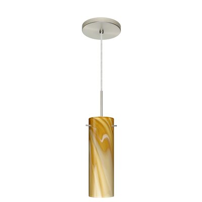 Copa 1-Light Mini Pendant Finish: Satin Nickel, Glass Shade: Honey, Bulb Type: LED