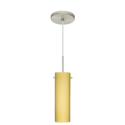 Copa 1-Light Mini Pendant Finish: Satin Nickel, Glass Shade: Vanilla Matte, Bulb Type: Incandescent or Xenon