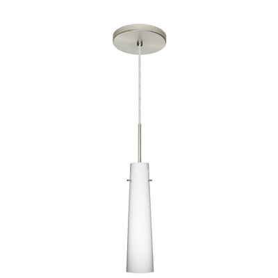 Camino 1-Light Mini Pendant Finish: Satin Nickel, Glass Shade: Opal Matte, Bulb Type: Xenon or Incandescent
