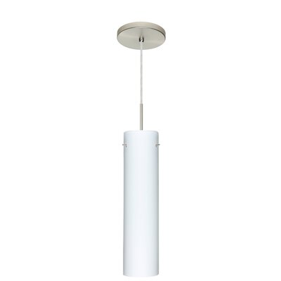 Stilo 1-Light Mini Pendant Finish: Bronze, Glass Shade: Opal Matte, Bulb Type: Incandescent