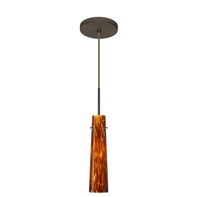 Camino 1-Light Pendant Finish: Bronze, Glass Shade: Amber Cloud, Bulb Type: Incandescent or Xenon