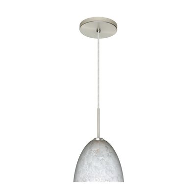 Sasha II 1-Light Mini Pendant Finish: Satin Nickel, Glass Shade: Carrera, Bulb Type: LED