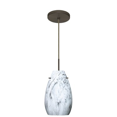 Pera 1-Light Pendant Finish: Bronze, Glass Shade: Marble Grigio