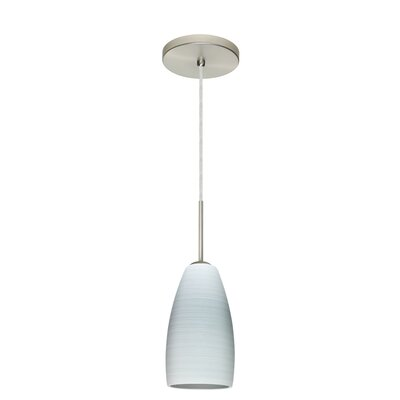 Chrissy 1-Light Pendant Finish: Satin Nickel, Glass Shade: Chalk, Bulb Type: Incandescent or Xenon