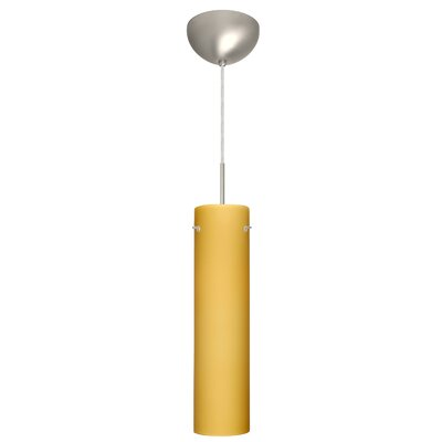 Stilo 1 Light Mini Pendant Finish: Satin Nickel, Glass Shade: Vanilla Matte, Bulb Type: LED