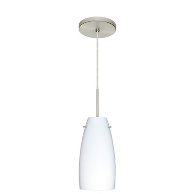 Tao 1-Light Pendant Finish: Satin Nickel, Glass Shade: Opal Matte, Bulb Type: LED