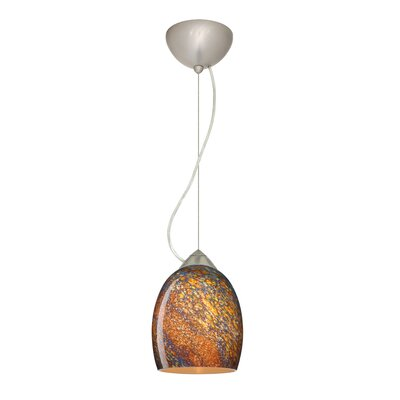 Lucia 1-Light Mini Pendant Bulb Type: Incandescent, Finish: Satin Nickel