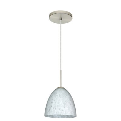 Vila 1-Light Pendant Finish: Satin Nickel, Glass Shade: Carrera, Bulb Type: LED