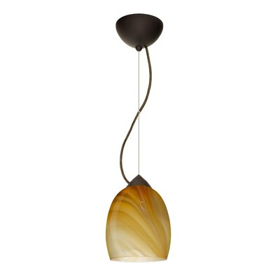 Lucia 1-Light Mini Pendant Finish: Bronze, Bulb Type: Incandescent