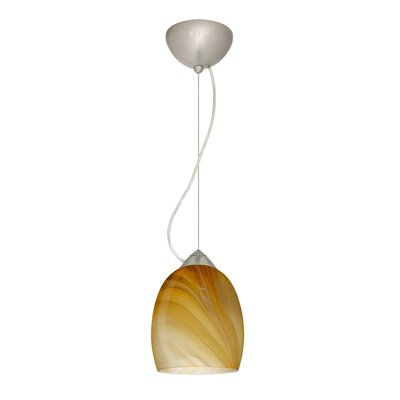 Lucia 1-Light Mini Pendant Finish: Satin Nickel, Bulb Type: Incandescent
