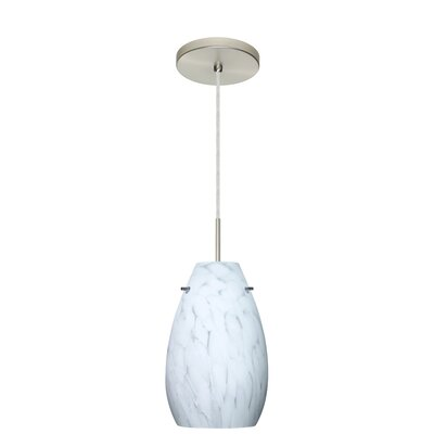 Pera 1-Light Pendant Finish: Satin Nickel, Glass Shade: Carrera