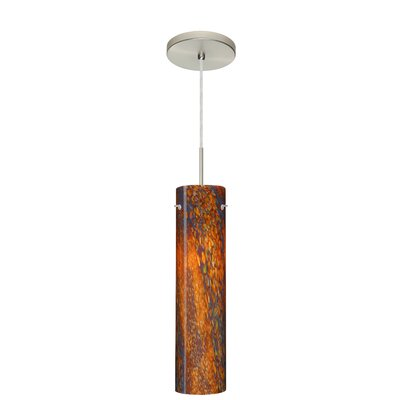 Stilo 1-Light Mini Pendant Finish: Satin Nickel, Glass Shade: Ceylon