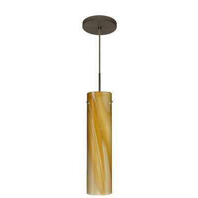 Stilo 1-Light Mini Pendant Finish: Bronze, Glass Shade: Honey