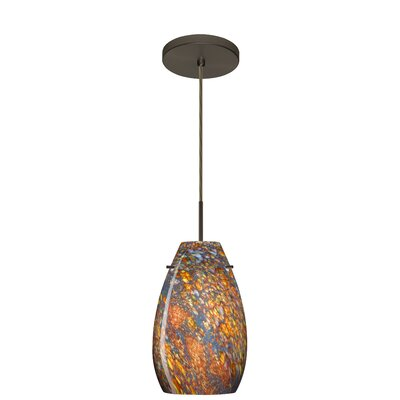 Pera 1-Light Pendant Finish: Bronze, Glass Shade: Ceylon