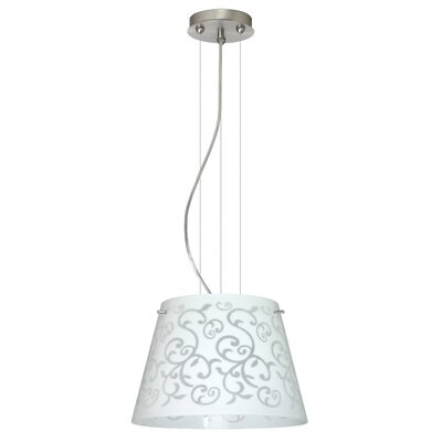 Amelia 1 LED Integrated Bulb Drum Pendant Finish: Satin Nickel, Shade Color: White