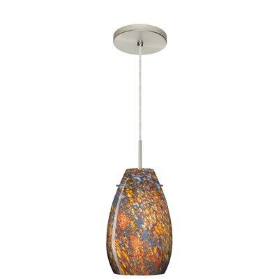 Pera 1-Light Pendant Finish: Satin Nickel, Glass Shade: Ceylon