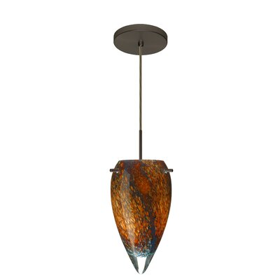 Juli 1-Light Pendant Finish: Bronze, Glass Shade: Ceylon