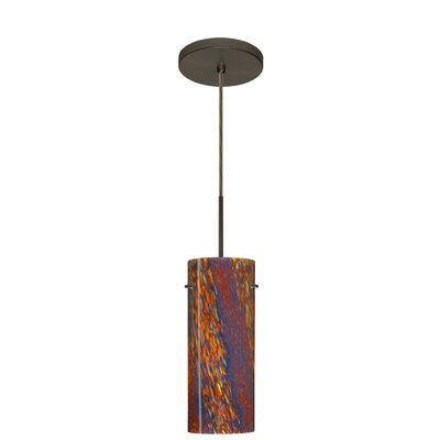 Stilo 1-Light Mini Pendant Finish: Bronze, Glass Shade: Ceylon, Bulb Type: Incandescent