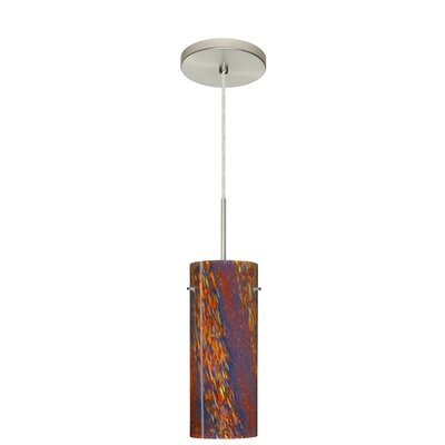 Stilo 1-Light Mini Pendant Finish: Satin Nickel, Glass Shade: Ceylon, Bulb Type: LED