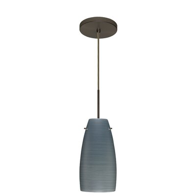 Tao 1-Light Pendant Finish: Bronze, Glass Shade: Titan, Bulb Type: LED