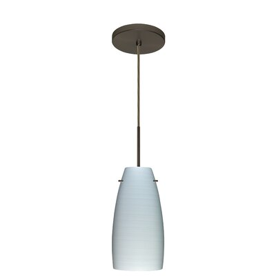 Tao 1-Light Pendant Finish: Bronze, Glass Shade: Chalk, Bulb Type: LED