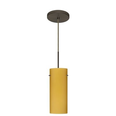 Stilo 1-Light Mini Pendant Finish: Bronze, Glass Shade: Vanilla Matte, Bulb Type: Incandescent