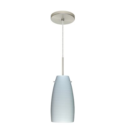 Tao 1-Light Pendant Finish: Satin Nickel, Glass Shade: Chalk, Bulb Type: Incandescent