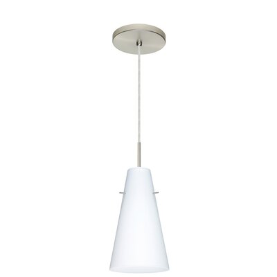 Cierro 1-Light Mini Pendant Finish: Satin Nickel, Glass Shade: Opal Matte, Bulb Type: LED