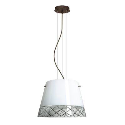 Amelia 3-Light Drum Pendant Finish: Brushed Bronze, Shade Color: White