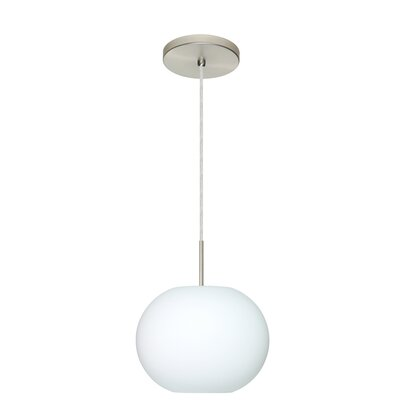 Luna 1-Light Pendant Finish: Satin Nickel, Glass Shade: Opal Matte, Bulb Type: LED