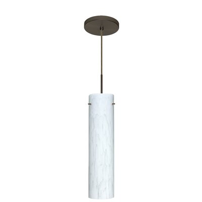 Stilo 1-Light Mini Pendant Finish: Bronze, Glass Shade: Carrera